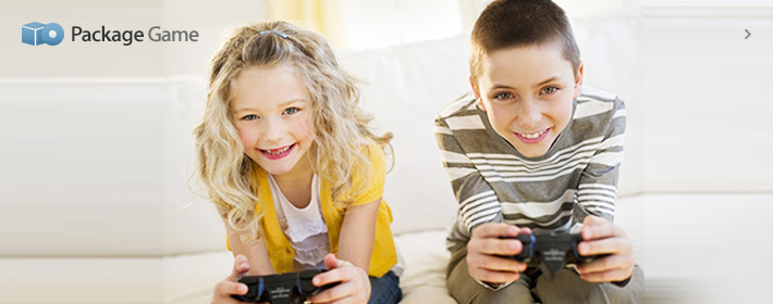 Brother and sister doing console game